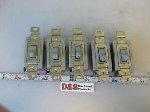 Lot Of 5 Hubbell Hbl1221gy 20a 120 277vac Single Pole Switches
