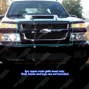 Fits 2004 2010 Chevy Colorado Xtreme Black Billet Grille Grill Insert