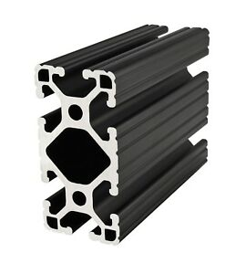 80 20 Inc T slot 1 5 X 3 Aluminum Extrusion 15 Series 1530 lite black X 48 N