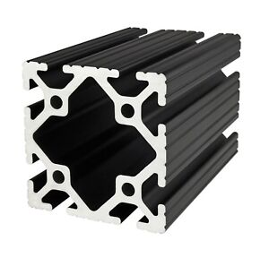 80 20 Inc T Slot 3 X 3 Aluminum Extrusion 15 Series 3030 black X 24 N