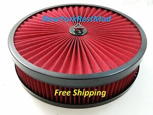 14x3 Air Cleaner Washable Filter Top Fits Edelbrock Holley Quadrajet Carbs New