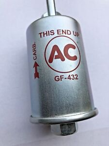 69 72 Corvette Fuel Filter Gf432 Style New Gas Filter With Ac Logo Writing