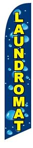 Laundromat Feather Swooper Flag Banner Sign Free Same Day Ship