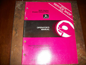 Original John Deere 1650 Series Drawn Chisel Plow Operators Manual