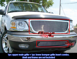 Fits 1999 2003 Ford F 150 2wd Billet Grille Combo