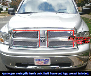 2009 2012 2011 Dodge Ram 1500 Pickup Stainless Steel Mesh Grille Grill Insert