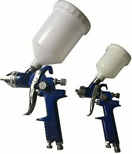 2pc Air Spray Gun 1 4 Mm Hvl Spray Gun Hvlp Air Touch Up Spray Gun W Holder