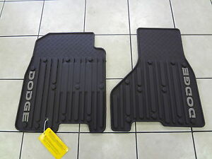 09 12 Dodge Ram Rubber Slush Mats Set Of 2 Front Crew Mega Cab Brown Mopar