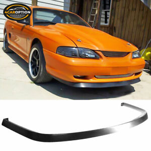 Fits 94 98 Ford Mustang Front Bumper Lip Spoiler Bodykit Chin Poly Urethane Pu