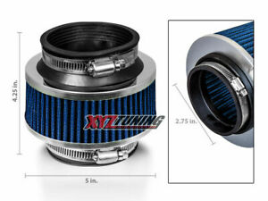 2 75 2 75 Inches Cold Air Intake Bypass Valve Air Filter 70 Mm Blue Ford
