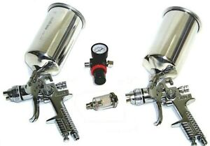4 Pc Hvlp Air Spray Paint Gun 1 4 Mm 1 7 Mm Air Regulator Water Separator