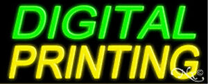 Digital Printing Handcrafted Real Glasstube Neon Sign