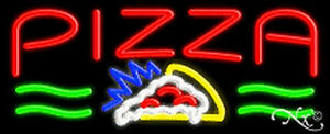 Pizza Handcrafted Real Glasstube Neon Sign