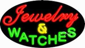 Jewelry Watches Handcrafted Real Glasstube Flashing Neon Sign