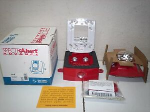 Nos System Sensor Spectralert Advance Red Outdoor Strobe Srk
