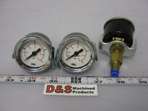 Lot Of 3 Wika Pneumatic Pressure Gauge 0 To 4 Bar 0 To 60 Psi W 4mm Adapter