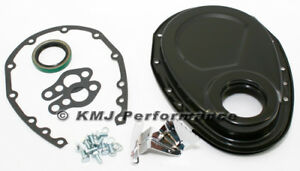 Sbc Chevy 350 Black Steel Timing Chain Cover Kit Small Block 283 305 327 400 New
