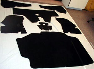 1975 1978 Cadillac Eldorado Convertible And Hardtop Black Felt Trunk Mat 7 Pc