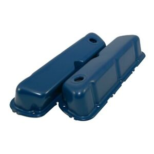 62 85 Sbf Ford Dark Blue Steel Valve Covers Small Block 260 289 302 351w New