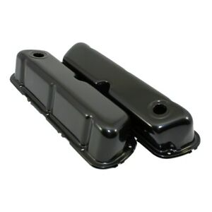 62 85 Sbf Ford Black Steel Valve Covers Small Block 260 289 302 351w New