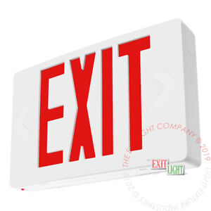 Red Led Emergency Exit Light Sign Standard Ac Only No Battery Ul924 Ledrac