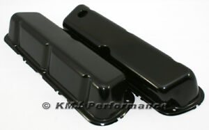86 95 Ford 5 0 Mustang Black Steel Valve Covers Factory Style 5 0l 302 New