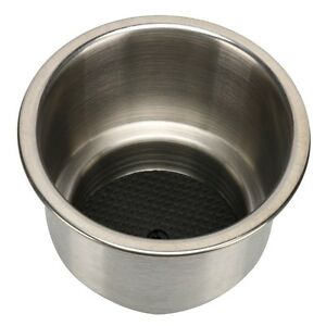Stainless Steel Cup Drink Holder Marine Boat Rv Camper Self Draining Cup Holder