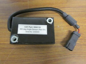 Caterpillar 3566119 360 Degree Angle Sensor Rev 01 Brand New