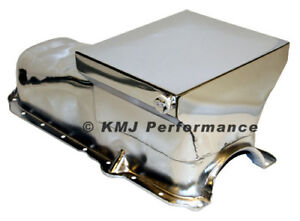 86 02 Chevy 305 350 Chrome 7qt Drag Style Oil Pan 1 Pc Rear Main Seal Sbc