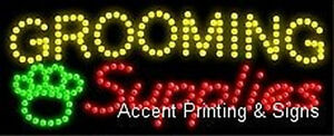 Grooming Supplies High Impact Eye catching Led Sign