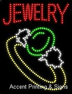 Jewelry High Impact Eye catching Led Sign