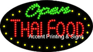 Thai Food Open Flashing Animated Real Led Sign