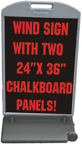 Chalkboard Sidewalk 24 x36 Wind Sign