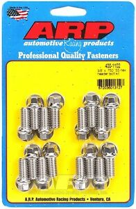 Arp 400 1102 Sbc Stainless Steel Header Bolt Kit Hex Head 3 8 X 3 4 16 Pieces