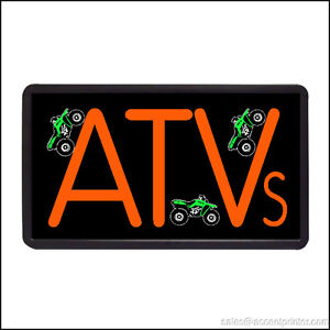 Atv Backlit Illuminated Electric Window Sign 13 x24