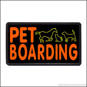 Pet Boarding Backlit Illuminated Electric Window Sign 13 x24