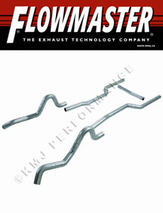 Flowmaster 1041 64 67 Gm A body V8 3 Mandrel Bent Exhaust Pipes Kit Gs Chevelle
