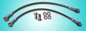 7 16 Braided Stainless Steel Disc Brake Hose Fits Chevelle Disc Brakes New