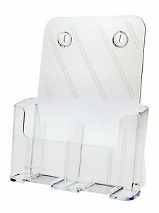 Lot Of 20 Tri Fold Mag 2 Pocket Counter Top Wall Brochure Holder W Divider