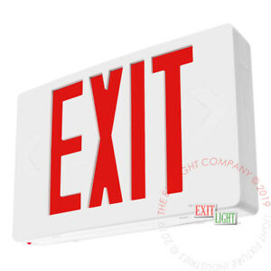 Red Led Emergency Exit Light Sign Standard Self Testing Diagnostic Ledrbbst