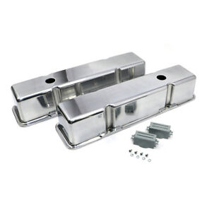 Sbc Chevy 350 Polished Cast Aluminum Valve Covers Tall Smooth Top 305 327 400
