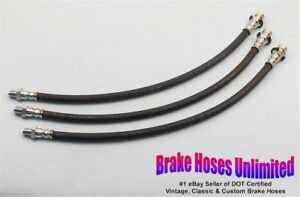 Brake Hose Set Willys 6 226 4wd Pickup Truck 1960 1961 1962 1963 1964