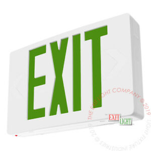 Green Led Emergency Exit Light Sign Standard Self Testing Diagnostic Ledgbbst