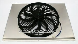 16 Curved Blade Electric Fan And 31 Aluminum Shroud Kit Fits 31x19 Radiator