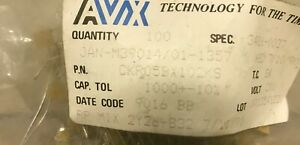 Avx Ceramic Multilayer Capacitor Ckr05bx102ks 0 001uf 200v Jan m39014 01 1357