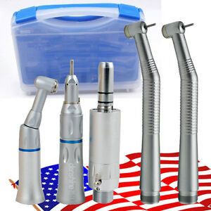 Usa Ship 1set Nsk Style Dental 2 Hole Push Button High Low Speed Handpiece Kit