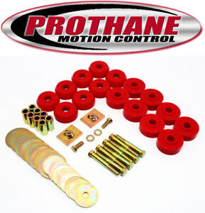 Prothane 7 144 1959 1964 Chevy Impala Bel Air Hard Top Body Mounts Kit Red Poly