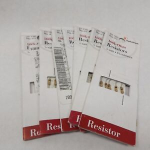 Radio Shack 271 1347 100k ohm Resistor 1 4 Watt 5 Tolerance 5 Pack X 7 35