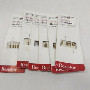 Radio Shack 271 1311 100 ohm Resistor 1 4 Watt 5 Tolerance 5 Pack X 6 30