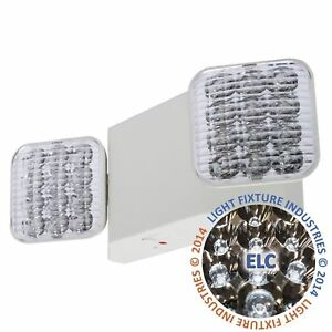 All Led Emergency Exit Light Remote Head Capable Ul Fire Safety Code Elwrh2
